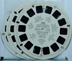 VIEW MASTER : THE CORONATION OF QUEEN ELISABETH II   405 - 406 - 407   ( 3 DISQUES ) - Unclassified