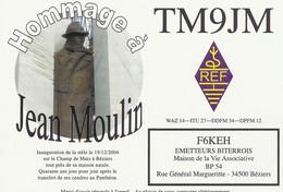CPM - QSL RADIO - Hommage à Jean Moulin  - BEZIERS (34) - Radio Amatoriale