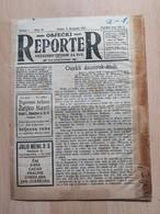 OSJECKI REPORTER, OSIJEK 1922, 8 Page Old Newspaper - Boeken, Tijdschriften, Stripverhalen