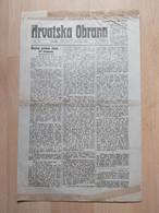 HRVATSKA OBRANA, OSIJEK 1919, 4 Page Old Newspaper - Boeken, Tijdschriften, Stripverhalen