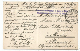 HELVETIA SUISSE MEIRINGEN 2.III.1916 CARTE + GRIFFE BILLINGUE INTERNEMENT DES PRISONNIERS DE GUERRE EN SUISSE - Guerra Del 1914-18