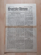 HRVATSKA OBRANA, OSIJEK 1921, 4 Page Old Newspaper - Boeken, Tijdschriften, Stripverhalen
