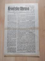 HRVATSKA OBRANA, OSIJEK 1921, 6 Page Old Newspaper - Boeken, Tijdschriften, Stripverhalen