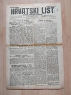 HRVATSKI LIST BR 148, OSIJEK 1921, 4 Page Old Newspaper - Boeken, Tijdschriften, Stripverhalen