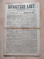 HRVATSKI LIST BR 150, OSIJEK 1921, 4 Page Old Newspaper - Boeken, Tijdschriften, Stripverhalen