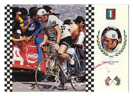 CARTE CYCLISME BERNARD THEVENET SIGNEE SERIE FISA - Cycling
