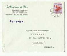 Lettre Par Avion De LEOPOLDVILLE AEROGARE 1958 Vers Liège - 16306 - 1947-60: Lettres
