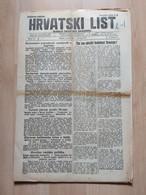 HRVATSKI LIST BR 152, OSIJEK 1921, 6 Page Old Newspaper - Boeken, Tijdschriften, Stripverhalen