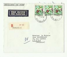 Lettre Recommandée Et Par Avion De BUKAVU 3 Le 18-12-1959 Vers Liège - 16308 - 1947-60: Storia Postale