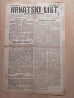 HRVATSKI LIST BR 159, OSIJEK 1921, 4 Page Old Newspaper - Boeken, Tijdschriften, Stripverhalen