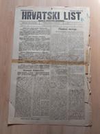 HRVATSKI LIST BR 165, OSIJEK 1921, 4 Page Old Newspaper - Boeken, Tijdschriften, Stripverhalen