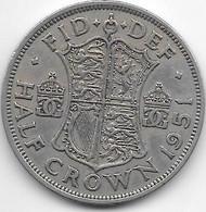 *great Britain 1/2 Crown   1951  Km 879    Vf - K. 1/2 Crown