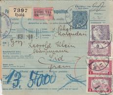 Bulletin D',expédition De UJVIDEK Obl Du 17 DEC Adressée à Sid - Paketmarken