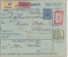Bulletin D',expédition De TOTVARNIK Obl Du 17AUG 26 Adressée à Vukovar - Paketmarken