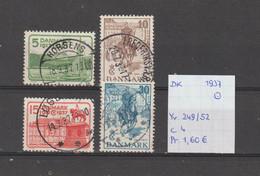 Denemarken 1937 - Yv. 249/52 - Mi. 237/40 Gest./obl./used - Usati