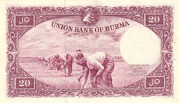 BURMA P. 49a 20 K 1958 UNC - Myanmar
