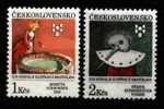 CS 1991 Mi 3093-4 Yt 2894-2895 ** Childrens Art - Unused Stamps