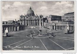 ROMA - Piazza E Basilica San Pietro,  St. Peter's Square And Basilica -  Viaggiata 1958 - San Pietro