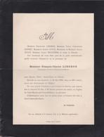 BELLEME FAIRE PART DE DECES DE MR LIBERGE PROPRIETAIRE A LA GARE DE BELLEME SAINT MARTIN ANNEE 1906 - France