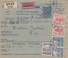 Bulletin D',expédition De UJVIDEK Obl Du 17 MAI 19 Adressée à Sid - Paketmarken