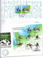 HIPPISME - EQUITATION - JEUX EQUESTRES MONDIAUX FEI 2014 - CHAMPIONNATS DU MONDE NORMANDIE CAEN PARIS  2 FDC 4890/4897 - Ippica