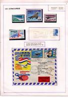 Présentation Concorde Sur 6 Pages Timbres Et Enveloppes - Concorde