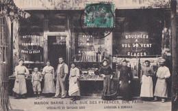 PARIS XX° CPA PHOTO Maison BARRE  204 Rue Des PYRENEES Boulangerie Patisserie Et Son Personnel - Distretto: 20