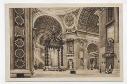 (RECTO / VERSO) ROMA - BASILICA DI S. PIETRO EN 1931 - BEAU TIMBRE ET FLAMME - CPA VOYAGEE - San Pietro