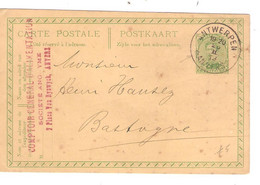 REF2022/ Entier CP 52c C.Agence Antwerpen N° Gratté 25/2/19 (Fortune) Comptoir Général D'Alimentation > Bastogne - Bolli A Stelle