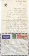 N°391+ 35C SEMEUSE +5C MERCURE LETTRE BATEAU AVION MARSEILLE A KOBE N°5 11.1.1939 COLOMBO RARE - Maritieme Post
