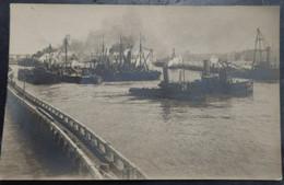 OSTENDE / OOSTENDE - Photo Carte - Militaria  Marine HMS VINDICTIVE Renflouement - Ed: Georges Pottier - 2 Scans - Oostende
