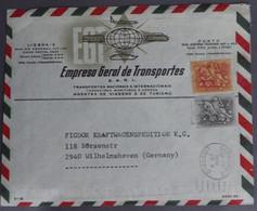 Portugal - Empresa Geral Transportes SARL > Alemanha Germany - Selos Cavalinho - D. Dinis Stamps - Flâmula Lisboa 2 - Marcofilie