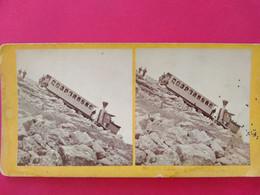 PHOTO STÉRÉO - Train à Crémaillère Mont Washington - USA - Circa 1860/70 - BE - Fotos Estereoscópicas
