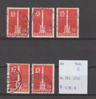 Denemarken 1938 - Yv. 253 - Mi. 242 (5x) Gest./obl./used - Usati