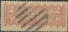 CANADA 1875 Registration Stamp - 2c - Orange FU - Recomendados