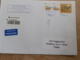Lithuania Litauen Cover Sent From Marijampole To Pagegiai  2011 - Lithuania