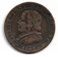 Monnaie  Vatican 1  Soldo 1867 Plat04 - Vaticaanstad