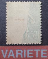 R1118/201 - 1903 - TYPE SEMEUSE LIGNEE - N°130h NEUF(*) - VARIETE ➤➤➤ Impression RECTO-VERSO Partielle - Abarten: 1900-20 Ungebraucht