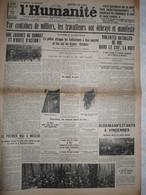 Journal Humanité Parti Communiste 2 Mai 1934 Grève Alfortville 1 Mai Moscou Vincennes Gérardmer Montceau Mines - Andere