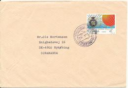 Spain Cover Sent To Denmark 1-4-1992 Single Franked - 1991-00 Briefe U. Dokumente