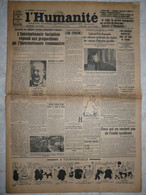 Journal Humanité Parti Communiste 18 Novembre 1934 Henin Lietard Roanne Gabriel Péri Vandervelde Adler - Andere