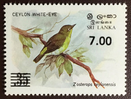 Sri Lanka 1986 White-Eye Birds Surcharge MNH - Non Classificati
