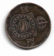 Monnaie   Bresil  20 Rs 1869 Plat04 - Brasile