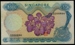 Singapore $ 50 Orchids Series. Board Of Comm. Of Currency Banknote. #p5d. 1976 - Singapore