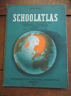 Oude   SCHOOLATLAS  CATOGRAFISCH INSTITUUT   P.  MANTNIEKS    BRUSSEL 1955 - School