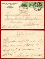 Intero Postale Ghiffa X Milano 0,60 Cent. Per Biglietto Postale (Michetti N. 184 ) - 1900-44 Victor Emmanuel III.