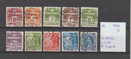 Denemarken 1938-'41 - Yv. 254/64 - Mi. 244/46+258/63+265 Gest./obl./used - Usati