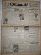 Journal Humanité Parti Communiste 7 Septembre 1934 Fascisme Tunisie Troyes Plovdiv Grévistes Américains Tués - Andere