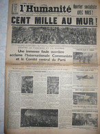 Journal Humanité Parti Communiste 28 Mai 1934 Contre Le Fascisme Et La Guerre Internationale Mussolini Varin Velo - Andere