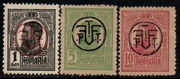 Romania 1919, Scott 245-247, MNH, Carol Overprint - 1918-1948 Ferdinand, Charles II & Michael